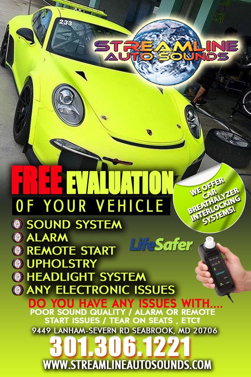 Streamline Auto Sounds 9449 Lanham Severn Road Seabrook Md 301 Car Headlight Alarm View Some Of Our Custom Design Work Here